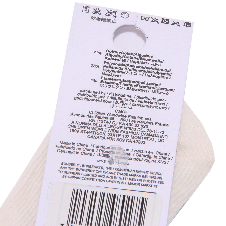 Burberry 1333W calzini Bimbo Ivory Cotton Socks Kid Unisex: Amazon.es: Ropa y accesorios