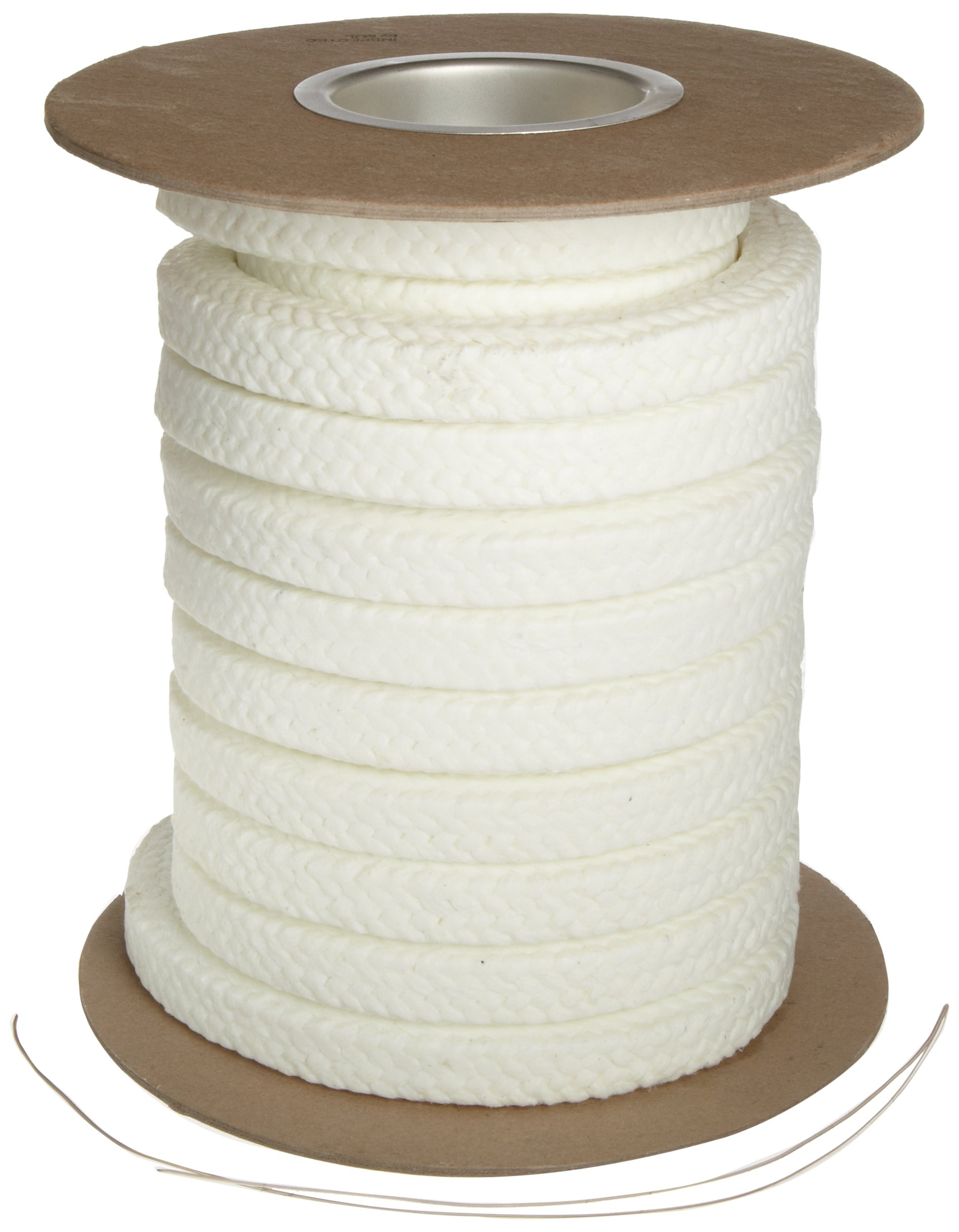Palmetto 1347AF Series Synthetic with PTFE & Lube Compression Packing Seal, White, 3/8'' Square, 10' Length