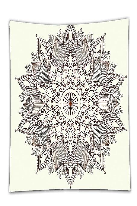 interestlee satinado (mantel? Color Beige Decoración Mandala flor ...