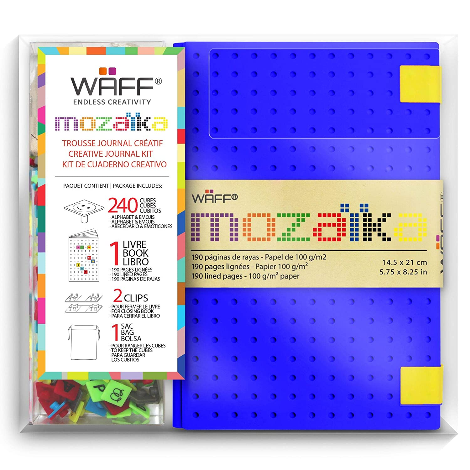 WAFF, Customizable Mozaika Notebook / Journal Combo, Large, 8.25