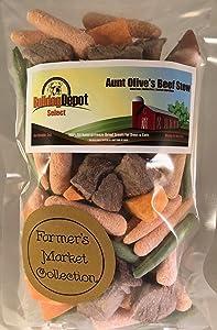 Bulldog Depot Select Farmer's Market Aunt Olive's Beef Stew Dog Treats- Always Farm Fresh!