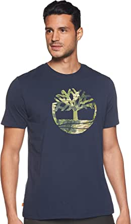 Timberland Men's Kennebec River Seasonal Pattern Tree Logo T-Shirt