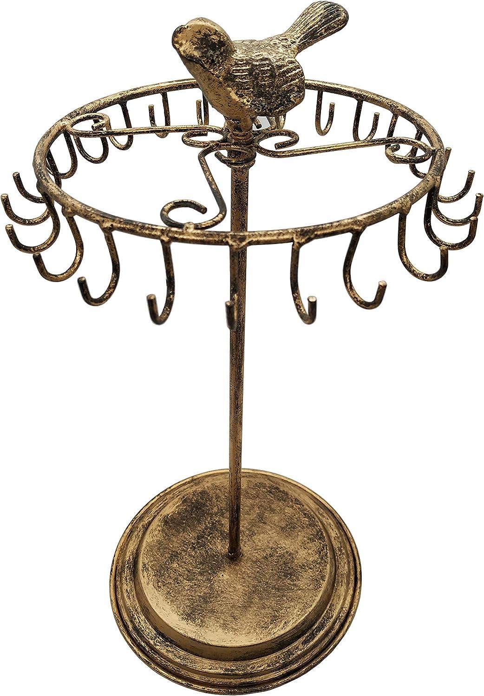 Bird Rotating Necklace Holder Bracelet Stand/Jewelry Organizer/Jewelry Tree,Bronze
