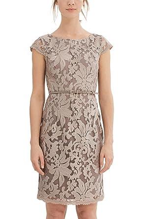ESPRIT Collection Damen Kleid 027EO1E024, Braun (Taupe 240), 40  Amazon.de   Bekleidung 9e8acfcf1c