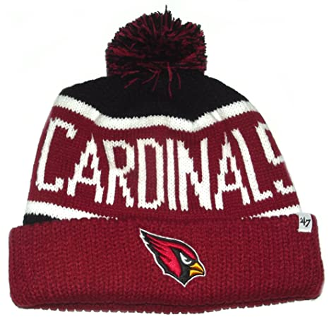 395ff1df9 Image Unavailable. Image not available for. Color: NEW! 47 Brand NFL  Arizona Cardinals Logo Knit Calgary Cuffed POM Beanie Skull Cap