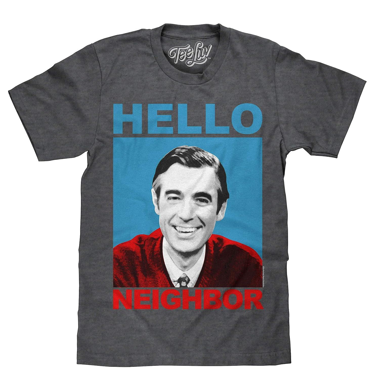87922213 Amazon.com: Tee Luv Mister Rogers T-Shirt - Mr. Rogers Hello Neighbor Shirt:  Clothing