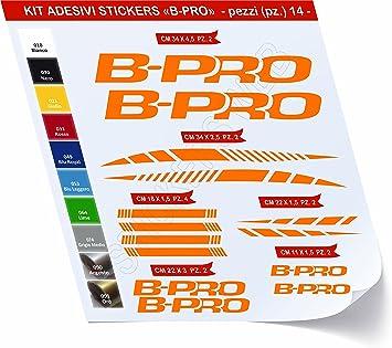 Pegatinas Bicicleta B-Pro BPRO Kit Pegatinas Stickers 14 Piezas – Elige Subito Colore- Bike Cycle Pegatina Cod.0477, Arancione cod. 035: Amazon.es: Deportes y aire libre