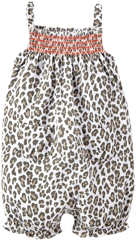 Carters Print Sunsuit Leopard-3 Months Baby