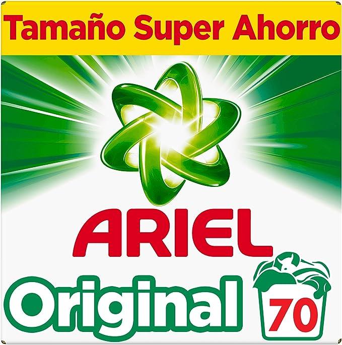 Ariel Original Detergente en Polvo 4,550 kg - 70 Lavados: Amazon ...