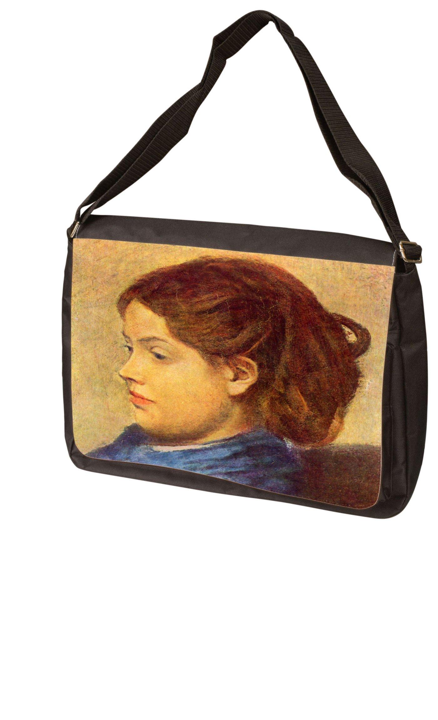 Portrait of Mademoiselle Dobigny By Edgar Degas Laptop Bag - Shoulder Bag - Messenger Bag