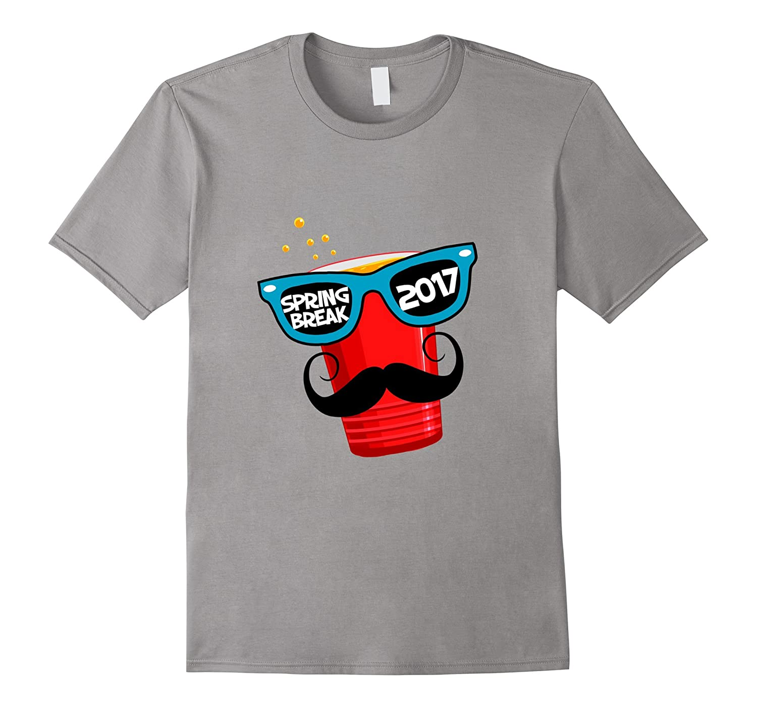 Spring Break 2017  Funny Beer Pong Red Cup Drinking T Shirt-TD