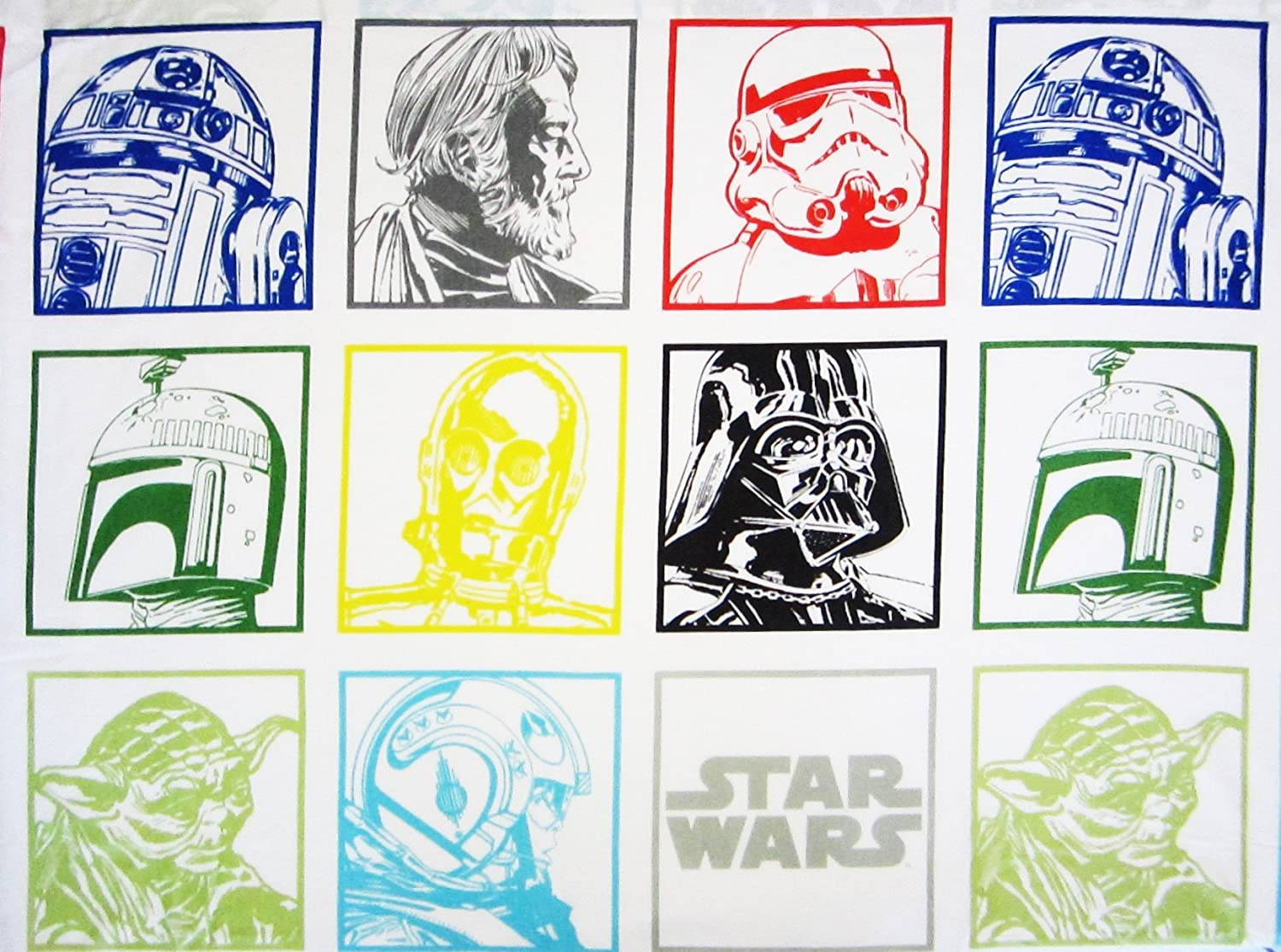 Star Wars Classic 60% Cotton (FLAT SHEET ONLY) Size FULL Boys Girls Kids Bedding Jay Franco & Sons Inc.