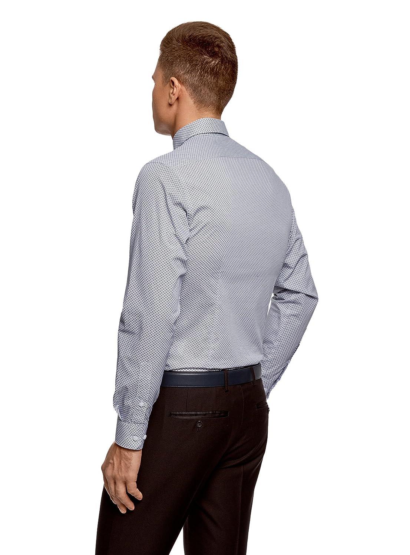 oodji Ultra Hombre Camisa Estampada de Algod/ón