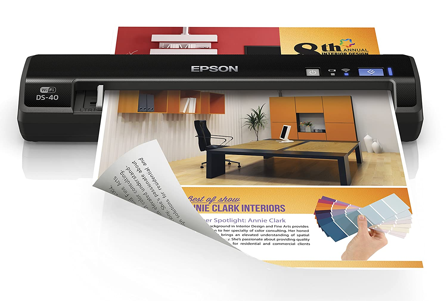 Epson Canada Workforce DS-40 Wireless Portable Color Document Scanner Epson WorkForce DS-40