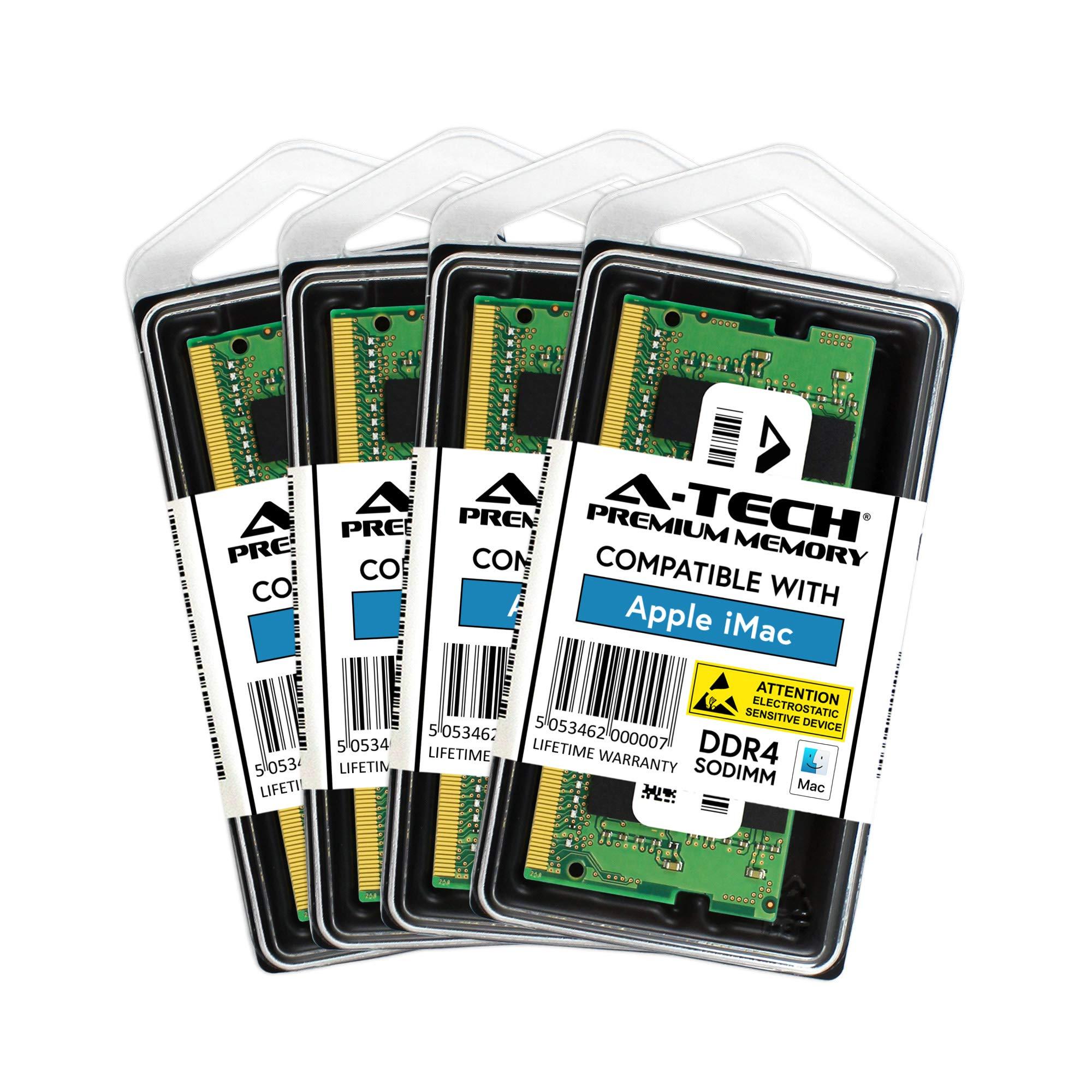 Memoria RAM 64GB A-Tech Kit (4X 16GB) DDR4 2400MHz Upgrade para Apple iMac (2017 Retina 5K 27-inch) A1419 MNE92LL/A MNEA