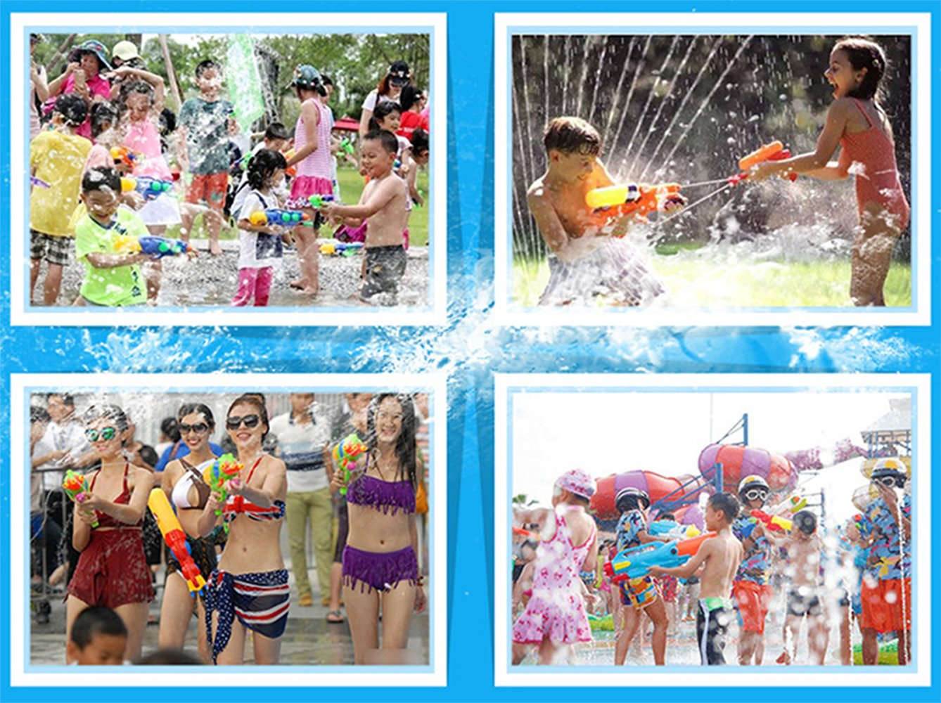 Water Gun Children Sports Fitness Toy Bow Arrow B & T Super Water Gun Soak Gun Pistol Gun 600CC Capacity Summer Party Messenger Water Shooting Pool Beach Water Children Toys Children Adults. by BT (Image #4)