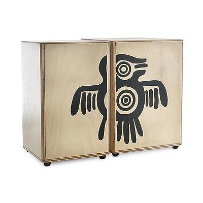 """'XDrum péruvienne Wooden Bongos en bois de bongos, plaque de en Sapelli, tailles: 5""""et 6hembra, 21cm de hauteur)"""