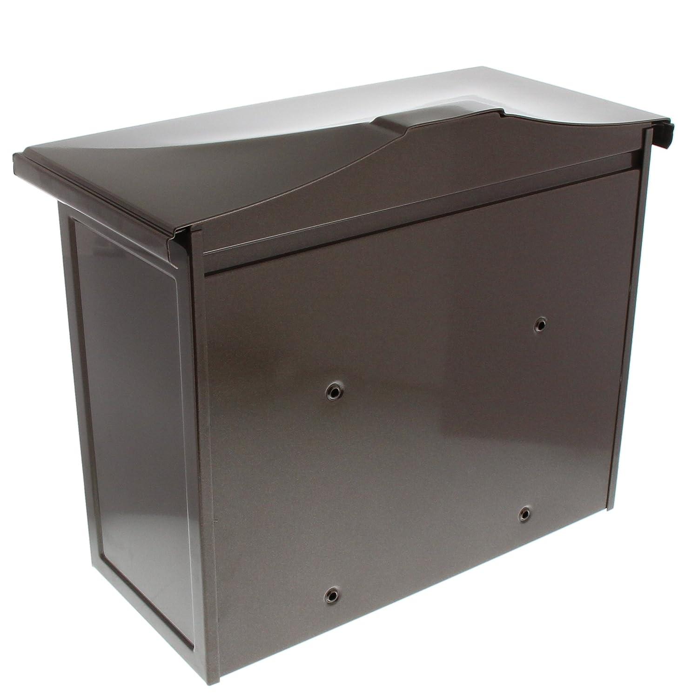 A4 Einwurf-Format Verzinkter Stahl Kupfermetallic Sylt 1883 K BURG-W/ÄCHTER Klassischer Briefkasten mit Komfort-Tiefe