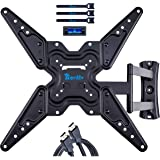 RENTLIV Full Motion TV Wall Mount TV Bracket for Most 26-55 Inches LED LCD OLED Flat Screen TVs/Computer Monitor with Tilt an