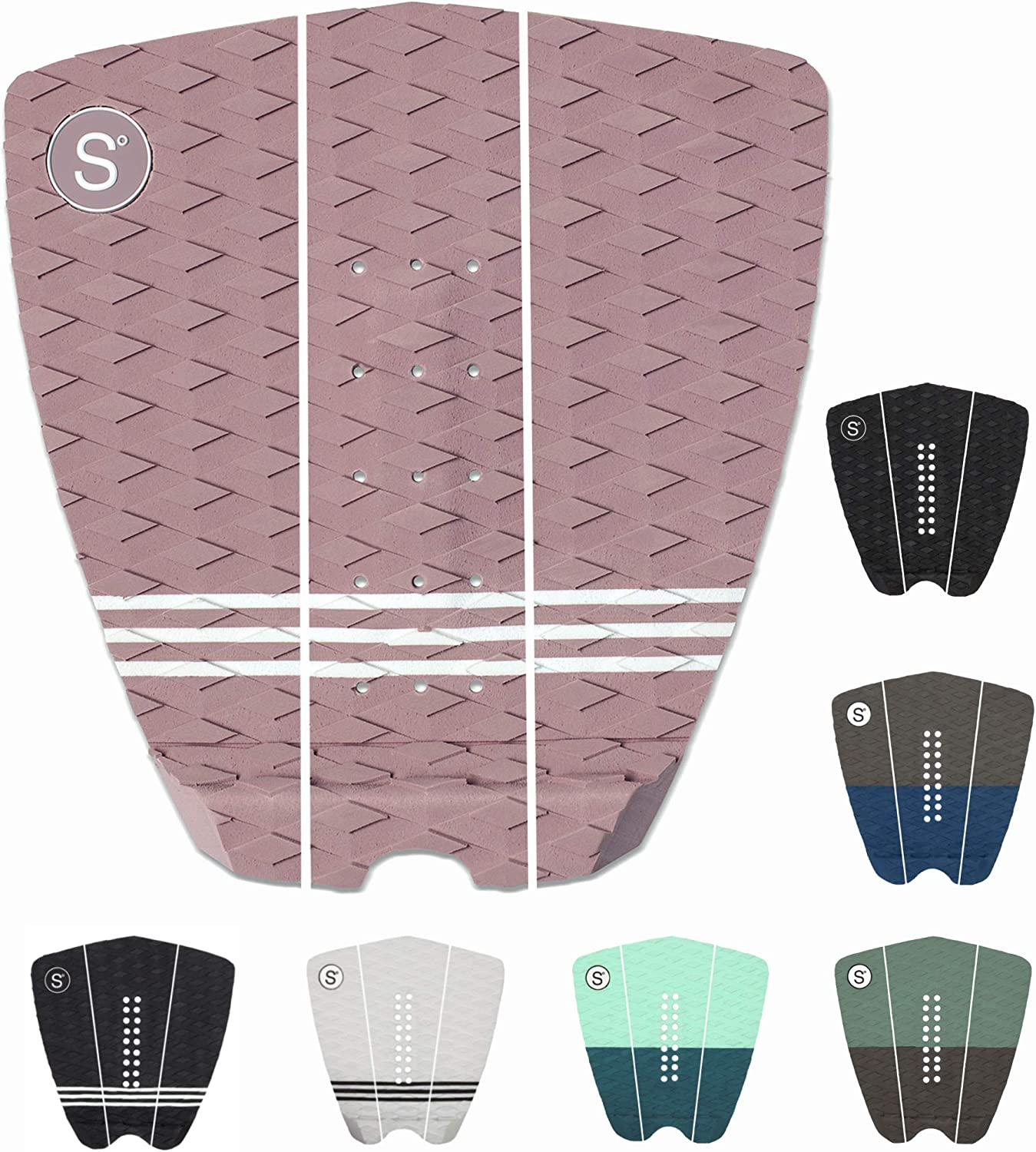 3Pcs Pro Traction Surfboard Surf Board Tail Pad Deck Grip   Surfing Mat