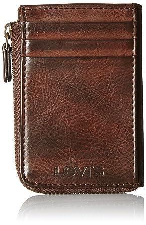 levis mens half zip card holder wallet - Zip Card Holder