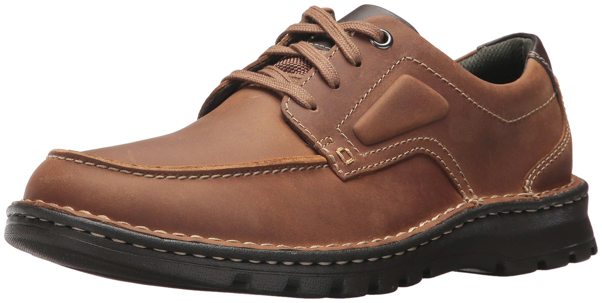 CLARKS Men's Vanek Apron Oxford, Tan Leather, 11 M US by CLARKS