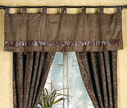 southwest window valances black forest decor western paisley beaumont southwestern valance rustic window treatment amazoncom