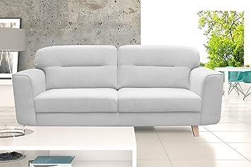 LeMonde Sofa Fester Sofa skandinavischen Design 3-Sitzer Stoff Holz ...