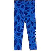 adidas Girls' Linear Printed TighTracksuit, Hi-Res Blue/Mystery Ink/White(Blue), 110(4-5 Years)