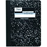 "Mead Composition Book/Notebook, Wide Ruled Paper, 100 Sheets, 9-3/4"" x 7-1/2"" (9910)"