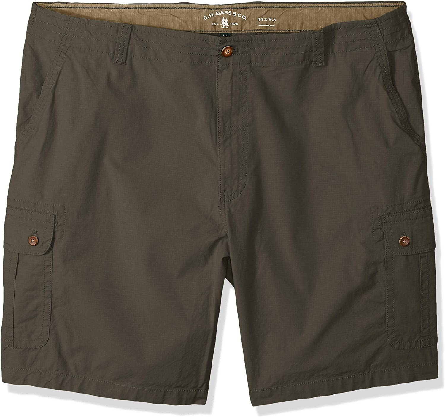 Bass /& Co G.H Mens Big and Tall Ripstop Stretch Cargo Short Cargo Shorts