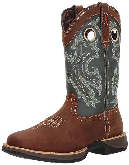 fe322cb0864 Durango Men's Rebel Pull-On Western Boot Wide Square Toe
