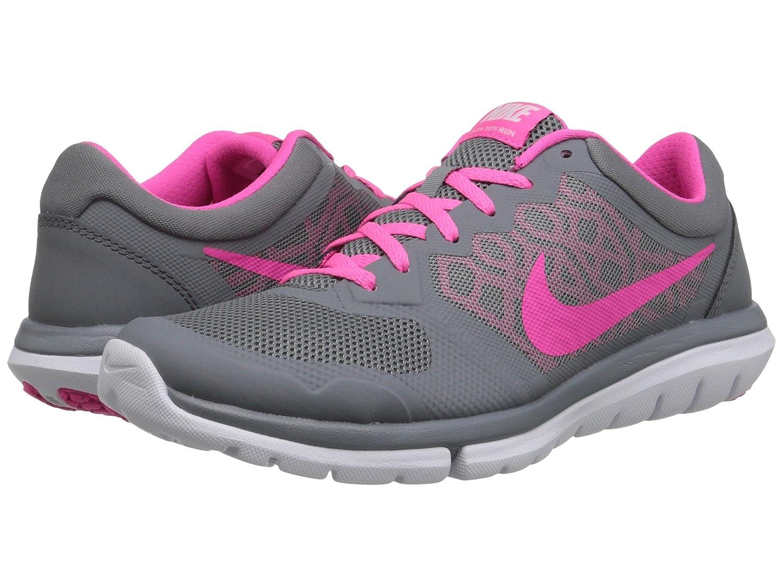 Nike Flex 2015 Run Women Laufschuhe Cool Grey-Pink Pow-White - 36,5: Amazon.es: Amazon.es