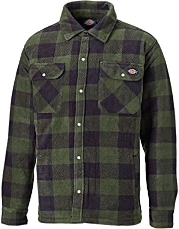 14f590aaa0d Dickies Portland Padded Shirt Fleece Workwear (SH5000) WARM PADDED LINED  GREEN   NAVY BLUE