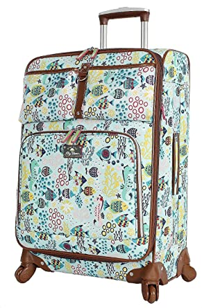 93b1212546 Lily Bloom Luggage 24 quot  Expandable Design Pattern Suitcase With Spinner  Wheels For Woman (24in