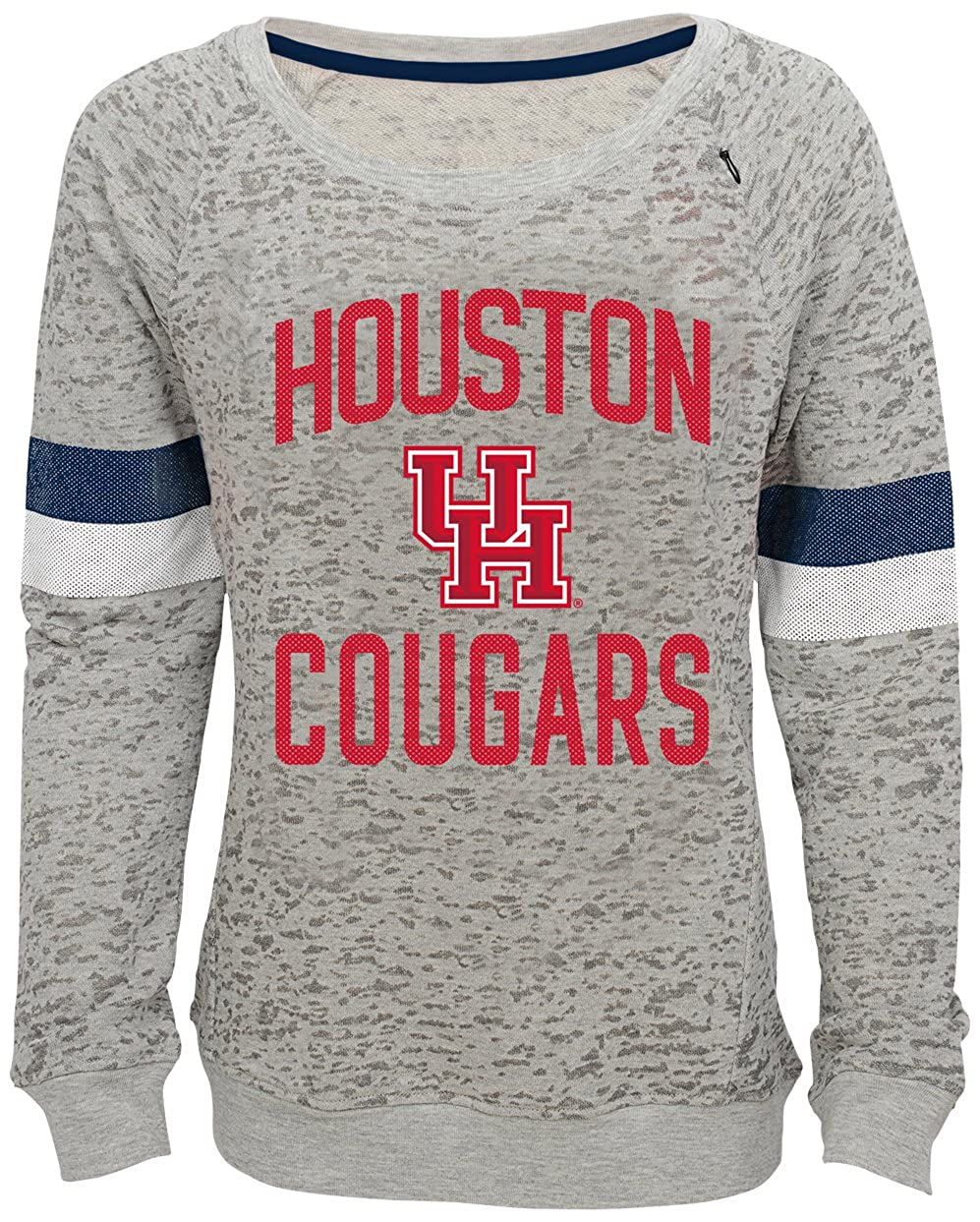 Youth Medium 10-12 NCAA by Outerstuff NCAA Houston Cougars Youth Girls My City Boat Neck Pullover Heather Grey