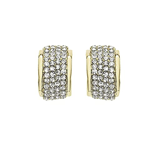 5d7438f70 Amazon.com: 14K Gold, Rose Gold, or Rhodium Plated Rectangle Stud ...