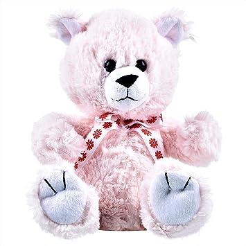 Bliss Kids Soft Hug-Gable Silky, Nice to Hold Teddy Bear (Pink)