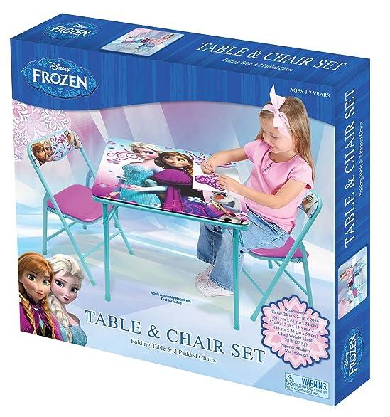 Amazon.com Disney Frozen Table and Chair Set with Storage Kitchen u0026 Dining  sc 1 st  Amazon.com & Amazon.com: Disney Frozen Table and Chair Set with Storage: Kitchen ...