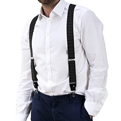 ebba49699 Men s Trouser Braces - Suspenders Strong Heavy Duty with Adjustable Y  Shaped Clips   Belt Loops