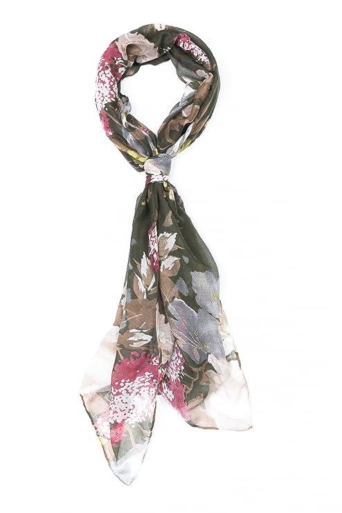 0fb75c40dd30 ColmagBoutique Grand Foulard Écharpe Fantaisie Multicolore 90 x 180 cm avec  Motif Fleurs (Vert)  Amazon.fr  Vêtements et accessoires