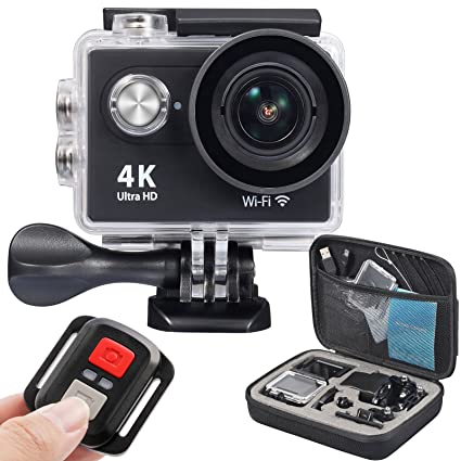 a66e3a59ce6 OnLyee 4K WiFi Sports Action Camera Ultra HD Waterproof DV Camcorder 12MP  170 Degree Wide Angle