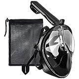 Tauchmaske, OMorc Seaview 180 Grad Blickfeld GoPro Kamera Halterung Kompatible Schnorchelmaske für Erwachsene und Kinder- Panoramavolles Gesichtsdesign mit Anti-Fog und Anti-Leck-Technologie