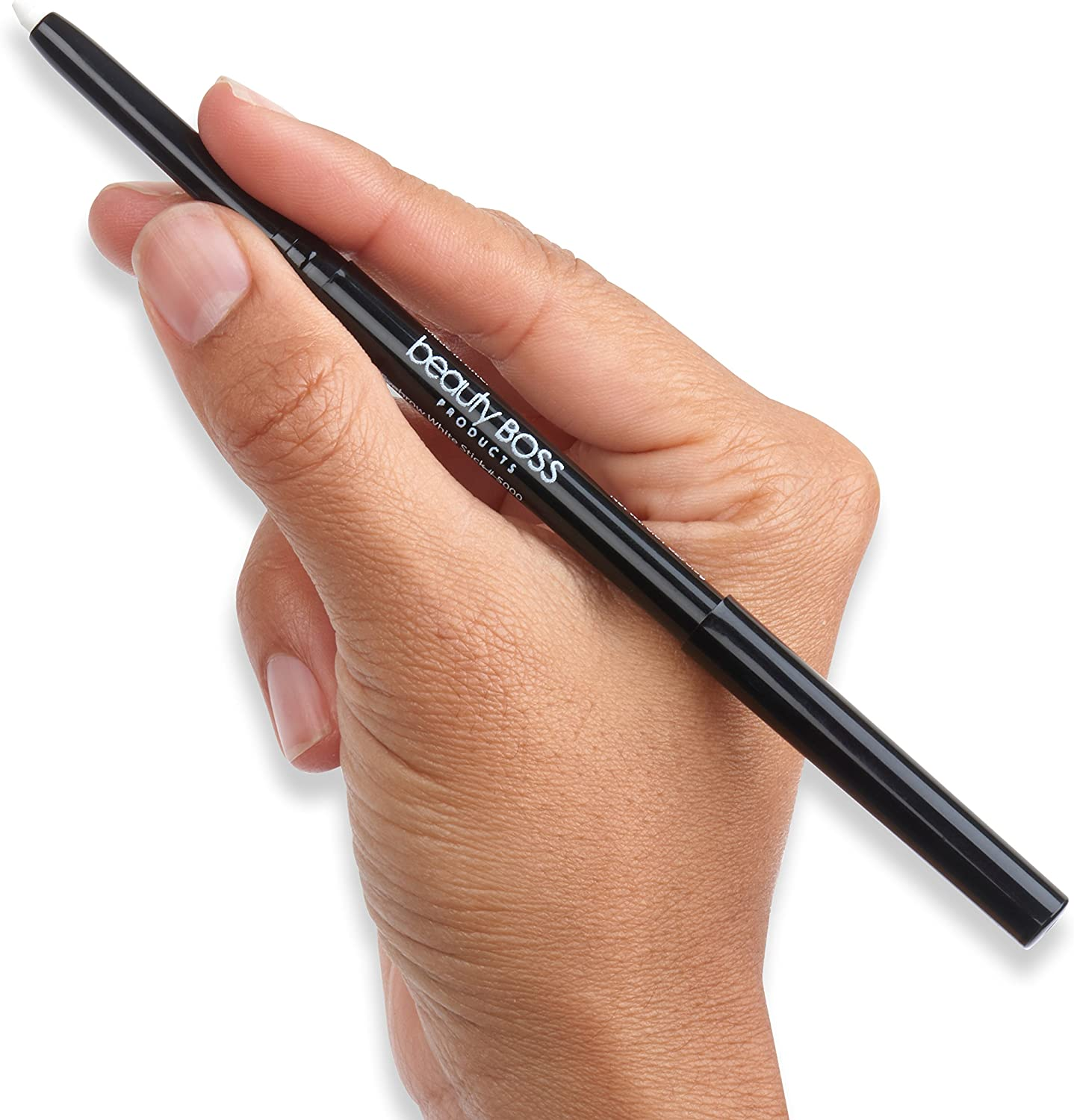 BeautyBoss Products White Wax Stick Pencil Brow Powder Base Eyebrow Stenciling Pencil