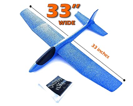 GIANT (Almost 3 FEET), Great Flying, Almost Unbreakable, Large Foam Glider  Plane  Virgin EPP Foam  Ideal for RC Conversion! Similar to LIDL Gliders