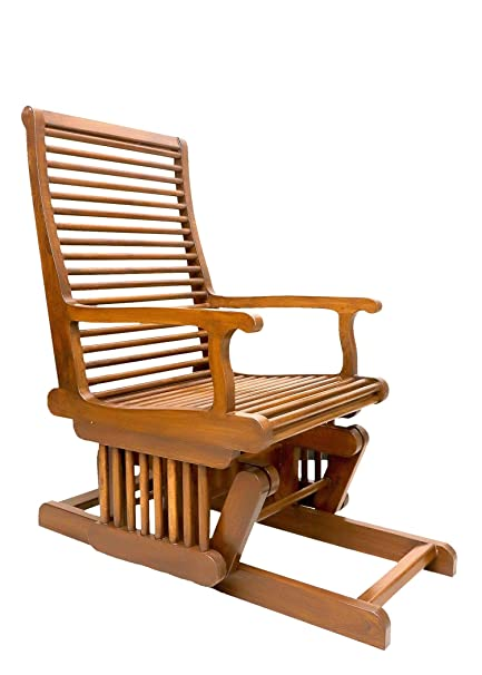 Awesome Gomati Woods Pure Teak Wood Rocking Chair Luxury Glider Chair Best Gift For Grand Parents Pure Teak Wood Natural Polish Cjindustries Chair Design For Home Cjindustriesco
