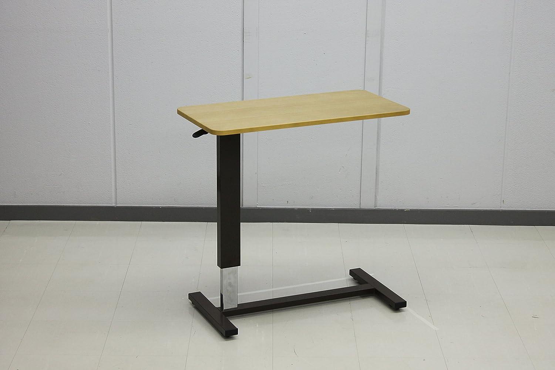 昇降テーブル テーブル高さ 65~95㎝ キャスター付き (幅 80cm, ライトブラウン) B01KNFJ6LU 幅 80cm|ライトブラウン ライトブラウン 幅 80cm