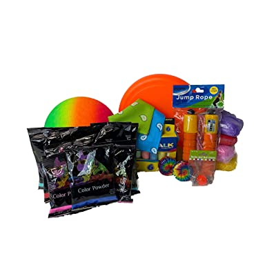 Chameleon Colors Outdoor Activity Kit, Playground Toys, One Month Supply of Recess Activities for Home School, Outdoor Games for Kids, Recess Equipment for Home Education During Social Distancing: Toys & Games
