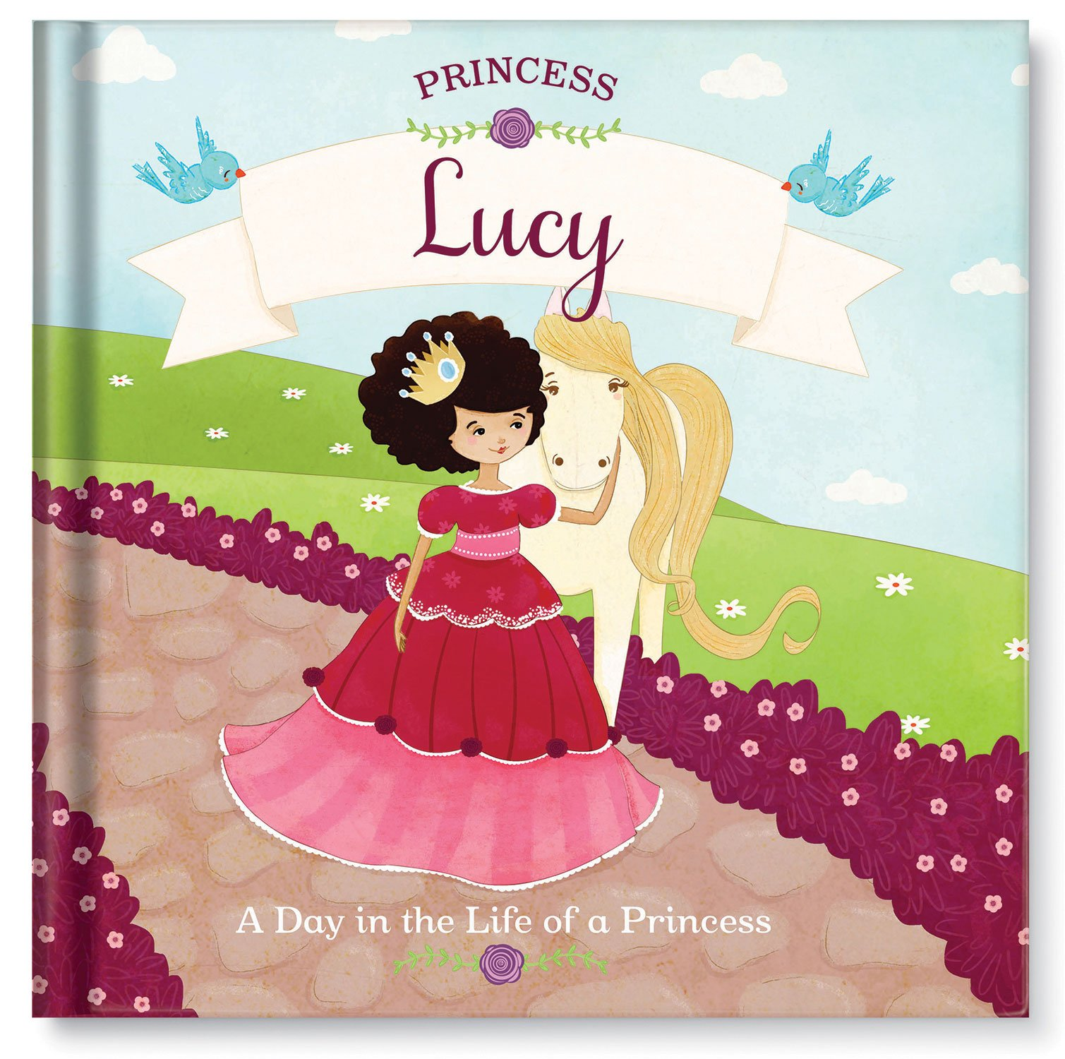 Princess Tea Party Dress up Personalized Custom Name Book for Girls