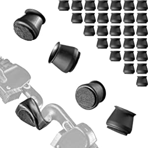 32pcs Black Silicone Furniture Leg Protection Caps with 3MM Black Felt Pads, Chair Or Table Silicone Protection Caps with Felt Pads, Protect Your Hardwood Floors from Scratches, Soft Silicone Caps